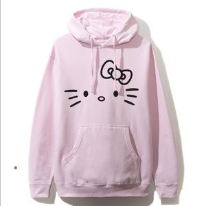 🎀 BT21 Club BTS Hello Kitty Bowtie Pink Hoodie